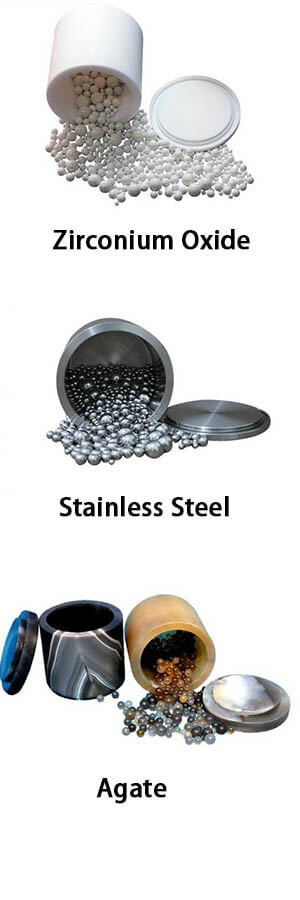 Grinding Jars and balls for planetary ball mill